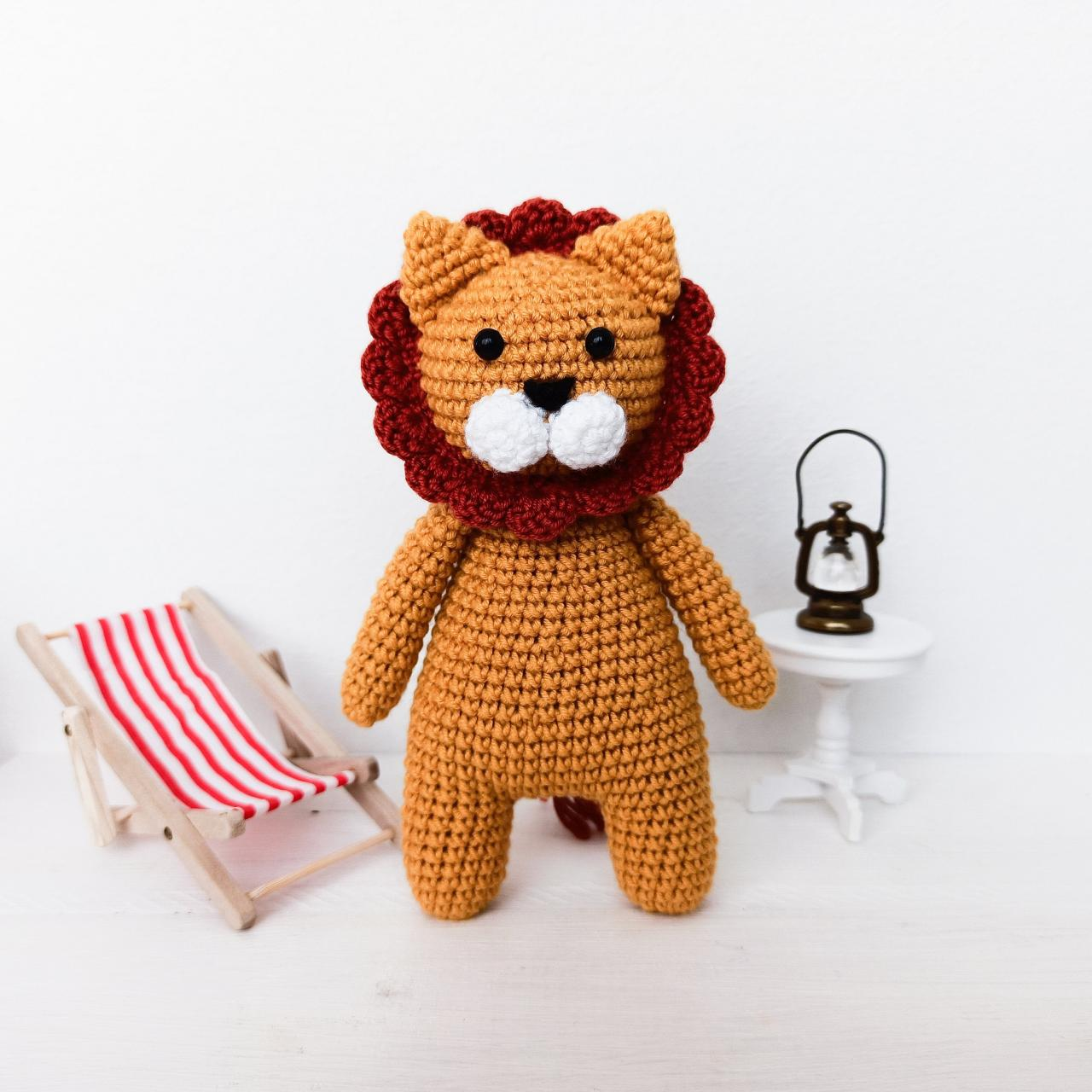 Amigurumi lion Crochet lion Plush lion Baby soft toy Lion toy Animal toy Stuffed toy Stuffed lion Plush toy Baby gift