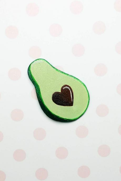 Wood brooch Wooden brooch Wood pin Wooden pin Avocado brooch Avocado pin Fruit brooch Fruit pin Best friends gift Gift for her Gift for him