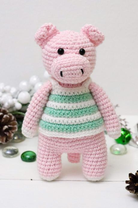 Amigurumi pig Crochet pig Plush pig Stuffed pig toy Crochet animal Baby soft toy Newborn baby gift Baby shower gift Piggy toy Piglet toy