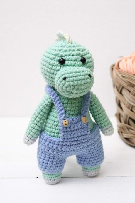 Amigurumi dino Crochet dino Plush dino Stuffed dino toy Crochet animal Baby soft toy Newborn baby gift Baby shower gift Dinosaur crochet