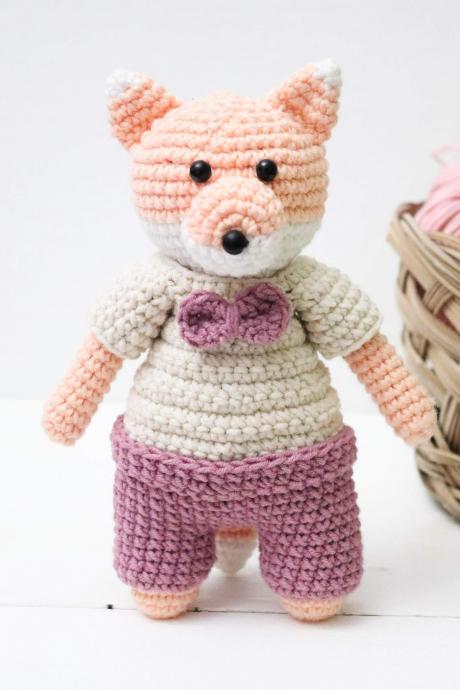 Amigurumi fox Crochet fox Plush fox Baby soft toy Baby shower gift Baby gift Christmas gift Soft fox