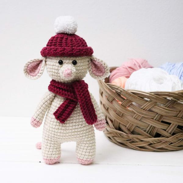 Amigurumi mouse Crochet mouse Plush mouse Stuffed mouse toy Crochet animal Baby soft toy Newborn baby gift Baby shower gift